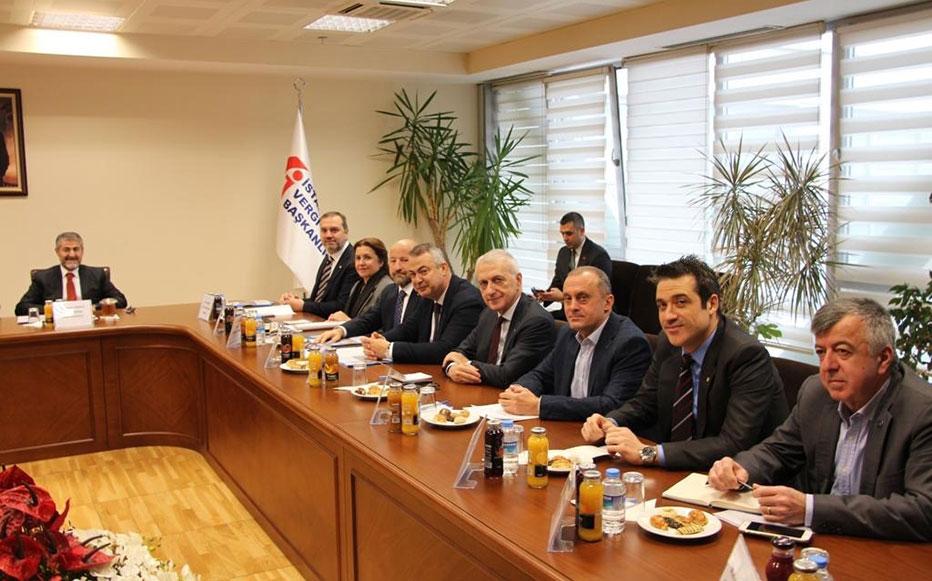 İMEAK DTO Yönetimi ve Denizcilik Sektörü Temsilcileri, Hazine ve Maliye Bakanlığı Bakan Yardımcıları İle Toplantı Yaptı.